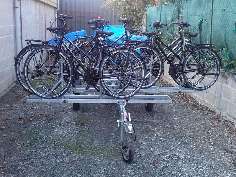 Remorque Adam - Remorque transport vélo à support glissières