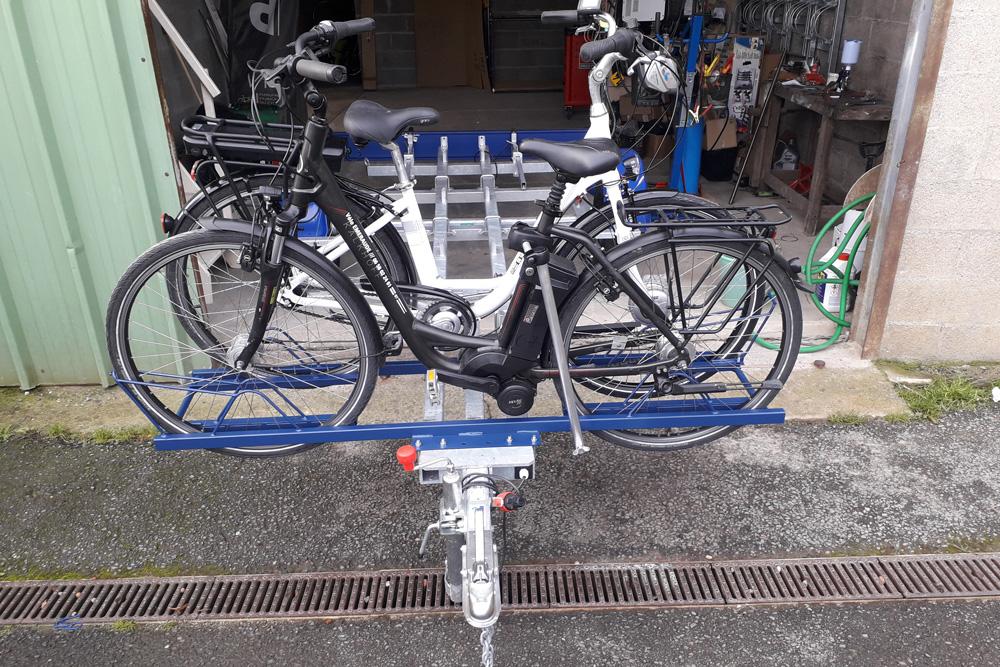 Remorque Adam - Remorque transport vélo à support fixe