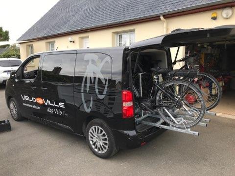 Remorque Adam - support transport vélo sur glissière